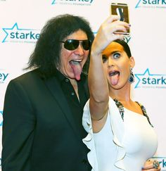 Gene Simmons and Katy Perry