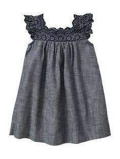 Eyelet chambray dress | Gap