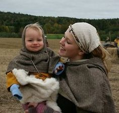 Viking mother and child.