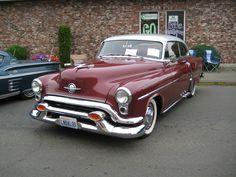https://flic.kr/p/8qiWM4 | 1953 Oldsmobile Super 88 Holiday | car show on the street on a summer Saturday in Elma, Washington.