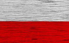 Download wallpapers Flag of Poland, 4k, Europe, wooden texture, Polish flag, national symbols, Poland flag, art, Poland