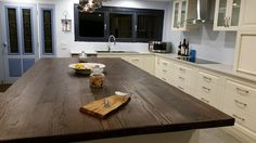Made by Kenney Pierce Timber - Recycled Douglas Fir (Oregon) Island Bench Top looking stunning in its new home. Like us on FACEBOOK: https://www.facebook.com/Kenney-Pierce-Timber-100-Recycled-1556591564613013