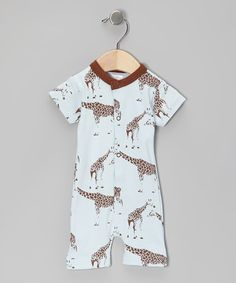 Take a look at this Brown Standing Tall Organic Romper by Sweet Peanut on #zulily today!