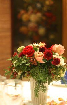 シティクラブオブ東京様への装花 クリスマスの前に : 一会 ウエディングの花