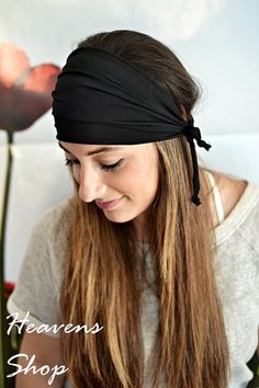 Check out this item in my Etsy shop https://www.etsy.com/uk/listing/242177143/yoga-headband-wide-headband-black