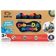 Dab and Dot Markers Dauber Washable Marker for Early Childhood, Preschool for Arts and Crafts Activities and even bingo sheets (2 PACK and 36 SCHOOL PACK) great bulk classpack (8 Pack): Amazon.co.uk: Toys & Games