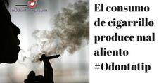 El cigarro provoca mal aliento #Odontotip