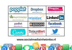 Geef op je eigen school een workshop sociale media en gebruik deze kaart met top tools voor in de les!