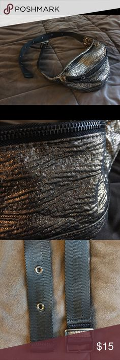 new concept 3a223 8f790 NWOT Urban Outfitters Belt Bag Glittery fabric, never worn, two sections.  Urban Outfitters