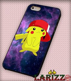 """Pikachu Pokemon for iPhone 4/4s, iPhone 5/5S/5C/6/6 , Samsung S3/S4/S5 Case """"005"""""""