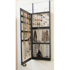 Space Saving Over-the-Door/Wall Hanging Jewelry Armoire by Innerspace $99.00 - Perfect pot of the way jewelry storage for bedroom, bathroom or closet!