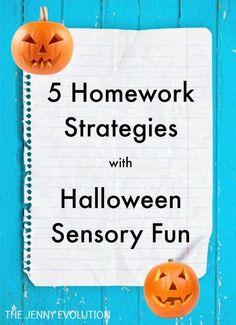 5 Homework Strategies with Halloween Sensory Fun | The Jenny Evolution