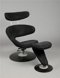 Lauritz.com - Møbler - Olav Eldøy stokke stol model Peel og fodskammel. (2) - DK, Herlev, Dynamovej