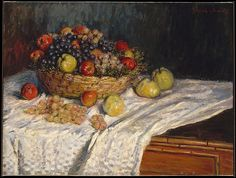 Claude Monet (French, 1840–1926). Apples and Grapes (1879-80). The Metropolitan Museum of Art, New York. Gift of Henry R. Luce, 1957 (57.183)