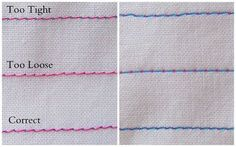 Very helpful information on sewing tension and also the machine needle.