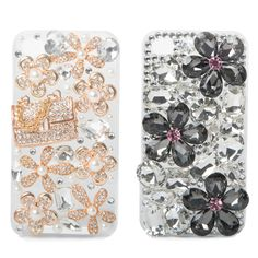 For the girl who loves sparkle! This duo of hard-cover plastic cases provides protection for your smartphone, while bead, pearl-and-rhinestone embellishments gi. Bling Phone Cases, Cool Iphone Cases, Cute Phone Cases, Iphone 4, Love Sparkle, Cell Phone Covers, Apple Products, Tech Gadgets, Plastic Case