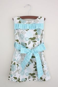 this blog has lots of cute tutorials for little girl clothing :) by lynne