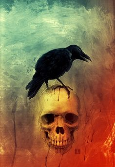 Raven illustration by Ben Templesmith. Edgar Alan Poe