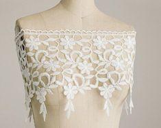Princess Grace Large Ivory Venise Monaco Fringe Lace Trim / Bridal / Wedding Dress Lace Trim / Home Decor / Wide Fringe Lace