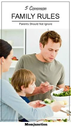 Family Rules: If you are trying to imbibe any of the above, setting a few common family rules can be a good idea. Find out some of the most effective common family rules and see which ones will work best for your family. #Parenting