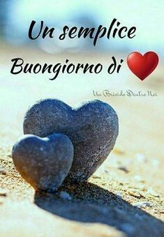 Due sassi a forma dk Li cuore Italian Memes, Honeymoon Planning, Start The Day, Messages, Love Your Life, Good Morning Quotes, Holy Spirit, Dinosaur Stuffed Animal, Emoticon