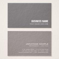 Modern Elegant Plain Premium Thick Luxury Trendy Business Card - classy gifts custom diy personalize