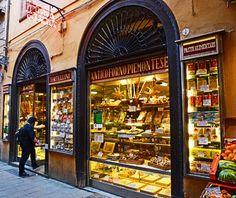 The Atti Market on Via Drapperie [Bologna], which as been in the same family for five generations