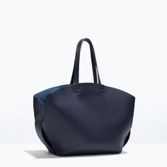 Image 2 of SHOPPER BAG WITH CONTRAST INTERIOR from Zara