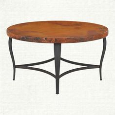 "Normandy 38"" Round Copper Coffee Table"