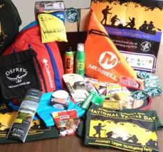 National Trails Day kit contents! So many fun goodies!