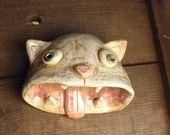 Pinch pot clay cat