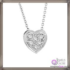 Morris & David - Diamond Heart Necklace