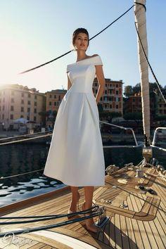2019 New Arrival Vintage A Line Dress Robe Femme Vestidos Off Shoulder Midi White Dresses - Mermaid Dresses Trendy Dresses, Elegant Dresses, Beautiful Dresses, Fashion Dresses, Vintage Dresses, Couture Dresses, Modest Fashion, Bohemian Gown, Black Wedding Dresses