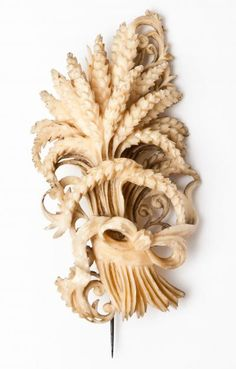 Finely carved ivory brooch from Dieppe, Normandy