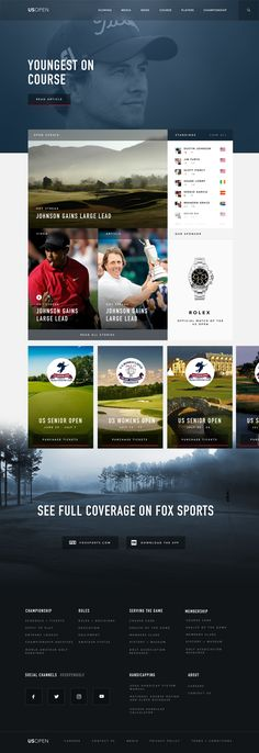 Recently got to pitch for the US Open, to give a new style / feel to their site. Pretty stoked on how this whole site / layout turned out. Wanted to keep their bold brand, but integrate a new vibe...