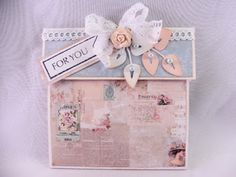 Crafting4fun: Gift card holder shabby chic