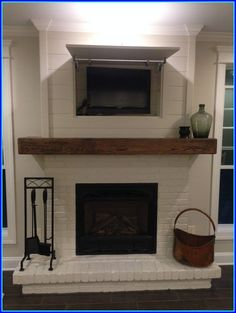 Fantastic Images rustic Brick Fireplace Concepts It often compensates for you to miss the redecorate! As opposed to removing a good aged brick fireplace , not spend as m #Brick #Concepts #Fantastic #Fireplace #Images #rustic Fireplace Redo, Shiplap Fireplace, Freestanding Fireplace, Fireplace Remodel, Fireplace Design, Fireplace Ideas, Painted Fireplaces, Fireplace Candles, Country Fireplace