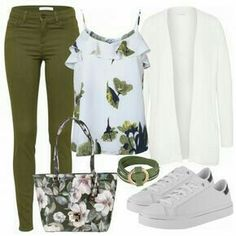 Spring outfits: Greenspring at FrauenOutfits.de - Source by outfits elegant Outfits Damen, Komplette Outfits, Classy Outfits, Stylish Outfits, Spring Outfits, Fashion Outfits, Fashion Tips, Fashion Quiz, Sport Outfits