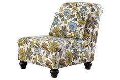 #FloralGoodness -- the Hariston-Shitake Accent Chair.