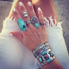 Rings; I could never pull this off, but  I love it!
