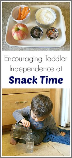 Encouraging Toddler Independence at Snack Time~ Buggy and Buddy