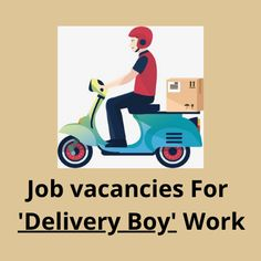 Hiring 10th & 12th pass candidates for the job vacancy for ''Delivery Boy''. The salary will be 12.5K. The post Job vacancies for 'Delivery Boy' work appeared first on Jobs and Auditions. Casting Calls, For Delivery, Part Time Jobs, Boys, Baby Boys, Senior Boys, Sons, Guys, Baby Boy