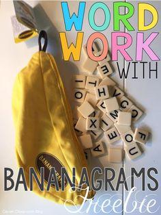 word work freebie using Bananagrams