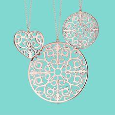 A swirl of emotion. Tiffany Enchant® pendants in RUBEDO® metal. #TiffanyPinterest