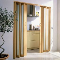 Super Home Interior Doors Small Spaces Ideas Minimalist Bedroom, Minimalist Home, Acordian Doors, Folding Closet Doors, Accordion Doors Closet, Interior Decorating, Interior Design, Interior Paint, Decorating Blogs