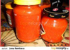 Rajčatový protlak recept - TopRecepty.cz Beverages, Drinks, Coca Cola, Salsa, Jar, Canning, Food, Drinking, Coke