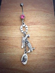"""Country Girl Belly Ring pistol belly ring cowboy by GypsySoulsx, $14.95 definatley on my """"To Get List""""!"""