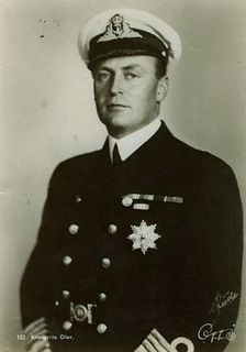"King Olav V of Norway (2 July 1903--17 January 1991), only son of Queen Maud of Norway (nee Princess Maud of Wales).  Olav was born Prince Alexander of Denmark and became Crown Prince Olav at 2 when his father was elected king of Norway in 1905.  As ruler Olav was immensely popular and became known as ""The People's King"".  At his death he was the last surviving grandchild of King Edward VII of Britain."