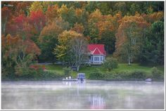 Fall in the Laurentides Lake District, Quebec