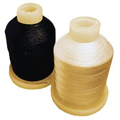 CATHOUZE CRAFTS MACHINE EMBROIDERY THREAD SET OF 2 MINI SPOOLS ** More info could be found at the image url.